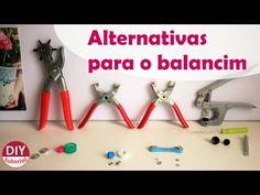 Alternativas para o balancim: alicate p/ ilhós, botão de pressão, como cobrir botões (DIY Tutorial) - YouTube