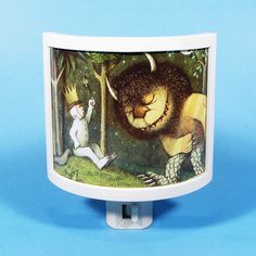 Where the Wild Things Are Max is King vintage kids book Night Light cute nursery bathroom hallway bedroom TAKE IT with on Etsy, $18.00