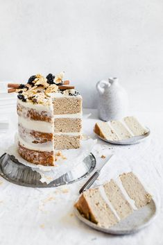 Chai Spice Cake with Vanilla Cream Cheese Frosting - Broma Bakery - Torten / Cakes - cake recipes Chai Spice Cake Recipe, Spice Cake Recipes, Baking Recipes, Dessert Recipes, Delicious Desserts, Nake Cake, Vanilla Cream Cheese Frosting, Cream Frosting, Broma Bakery
