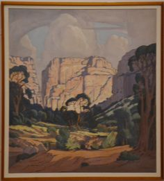 JH Pierneef, Oil on canvas, Landscape