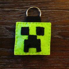 Minecraft Creeper Felt Keychain by TurtlesSoup on Etsy, $10.00 #minecraft, #creeper, #pixel, #8bit, #gaming, #handmade, #etsy