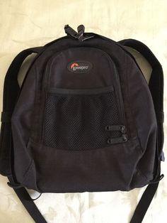 Lowepro Micro Trekker 100 Camera Backpack Bag In Black w/free Nikon Camera Strap…
