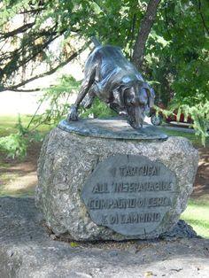Il monumento intitolato al cane da Tartufo