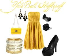Sweet Hufflepuff Yule Ball... by me on Polyvore
