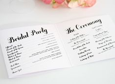 - Wedding Program Wording - EverAfterGuide