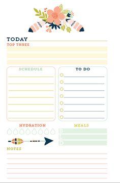 Dakota Theme Printed Daily Planner Inserts