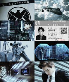 Kai/Kim Jongin as an Agent of S.H.I.E.L.D