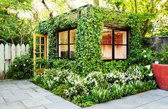 Ivy covered Art Studio in Parkside Garden by Scott Lewis Landscape Architecture