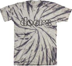 The Doors Spiral Tie Dye T-shirt in Grey