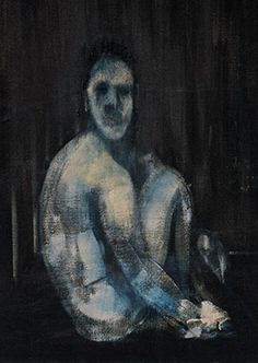 Francis Bacon Seated Figure, 1954 Oil on canvas Francis Bacon, Robert Motherwell, Mark Rothko, City Gallery, Sculpture, Figurative Art, Abstract Expressionism, Les Oeuvres, Art Inspo