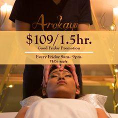 Good Friday promotion  $109/90mins  @Arokaya Lanna #arokayalanna #canberra #Australia
