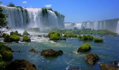 Iguazu Falls, Iguassu Falls, or Iguaçu Falls are waterfalls of the Iguazu River located on the border of the Brazilian state of Paraná and the Argentine province of Misiones. The falls divide the river into the upper and lower Iguazu Oh The Places You'll Go, Cool Places To Visit, Places To Travel, Dream Vacations, Vacation Spots, Brazil Argentina, Visit Argentina, Famous Waterfalls, Beautiful Waterfalls