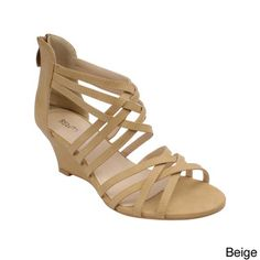 2253d5827d1 Beauty Heel  Rosie-24  Women s Fashion Criss-Crossed Strappy Wedge Sandals