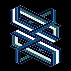 #Isometric poetry - blue and green #print @oozefina