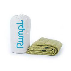 BIGWORDS.com | Rumpl High Performance Blanket - Puffy, Waterproof, and Stuffable - Fern/Moss - Queen 88 x 84in.