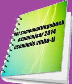 Gratis te downloaden. Samenvattingsboek van het examenprogramma economie van het vmbo-tl. http://economietraniner.nl