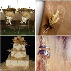 Love this cake for a wheat wedding!