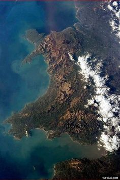 At what time can you see the international space station over Wales? - Astronaut Chris Hadfield took this picture of Wales when he was up in the International Space Station Anglesey, Snowdonia, Pembrokeshire Wales, Wales Uk, North Wales, Chris Hadfield, Visit Wales, Brecon Beacons, International Space Station