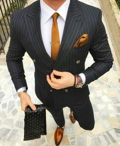 Black And Gold Mens Outfit Picture mens black double breasted pinstripe suit with gold tie and Black And Gold Mens Outfit. Here is Black And Gold Mens Outfit Picture for you. Black And Gold Mens Outfit sorry limited sizesthis color pallini . Mens Fashion Suits, Mens Suits, Men's Fashion, Daily Fashion, Fashion Quotes, Fashion Vintage, Vintage Men, Fashion Photo, Latest Fashion