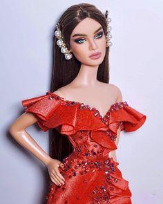 Diva Fashion, Fashion Art, Fashion Outfits, Dolly Dress, Barbie Dress, Fashion Royalty Dolls, Fashion Dolls, Barbie Funny, Barbie Fashionista Dolls