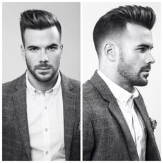 short hair for men with beard
