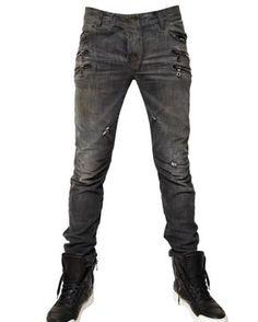 87adeaa1 Balmain | Black Slim Fit Jeans for Men | Lyst Balmain Jeans Men, Shoes With