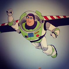 Buzz Lightyear Wall Mural Part 33