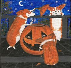 halloween corgi art - Google Search
