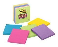3M super sticky Post-It notes :D