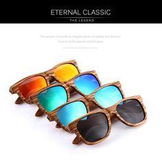 c364489b8 100% Real Zebra Wood Sunglasses Mirror,UV400,Anti-Reflective,Polarized  Handmade Bamboo UNISEX
