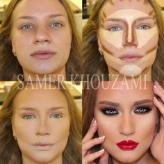 How to contour your face - follow the lines and blend a lot to get that 3D effect.
