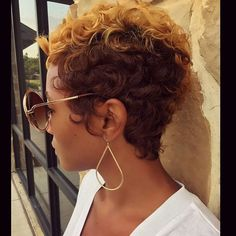"STYLIST FEATURE| Beautiful #pixiecut done by  #ArlingtonStylist @Khimandi✂️ Classic curls➰ and color #VoiceOfHair ========================= Go to VoiceOfHair.com========================= Free eBook, ""Let Your Hair Speak for Itself =========================="