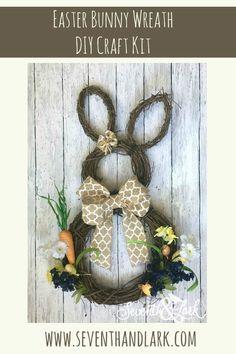 Easter basket personalized easter basket monogram easter basket diy bunny wreath rustic burlap wreath easter bunny wreath bunny wreath craft negle Gallery