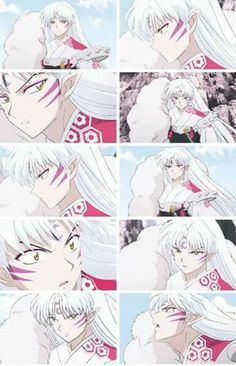 The many faces of Seshomaru.They should have put his smile too