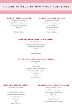 Who's Hosting? A Guide to Wedding Invitation Host Lines