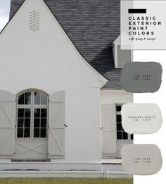 62 Ideas exterior house paint color combinations shutters dream homes Exterior Paint Color Combinations, House Paint Color Combination, Exterior Color Schemes, Exterior Paint Colors For House, Grey Exterior, Paint Colors For Home, Exterior Design, Tudor Exterior Paint, Outside House Paint Colors