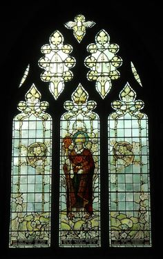 Stained glass window, St. David's Cathedral, Wales