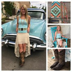 **NEW** sassy crochet high low skirt! Pair with a simple tank, beaded native belt and boots, for a look that's sure to turn heads!  Southern Thread Austin, TX.