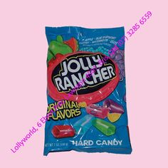 Jolly Ranchers are an American candy similar to a fruit flavoured boiled Lolly. Jolly Rancher Flavours are Apple, Blue Raspberry, Cherry, Watermelon. Jolly Rancher Flavors, Lolly Bags, Hard Candy, Aquarium Fish, Pop Tarts, Chocolates, Watermelon, Raspberry, Snack Recipes