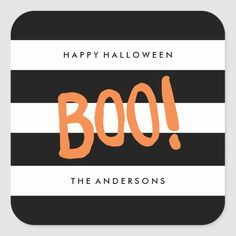 Boo! | Gift Tag Stickers - tap/click to get yours right now!  #trick #or #treat #new #modern Halloween Party Supplies, Halloween Make, Halloween Stickers, Craft Party, Custom Stickers, Tricks, Gift Tags, Art For Kids, Activities For Kids