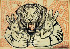Go veg Mr. Tiger :-D <3 by Šarming
