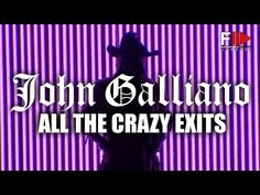 """JOHN GALLIANO""  all the crazy exits!  by FashionChannel    #designers #fashion #johngalliano"