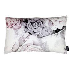 Rose Decay on Linen - Floral Pillows - by Ellie Cashman Design
