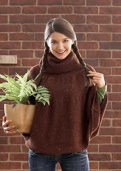 Free Pattern: Big Chocolate Cape by Patons