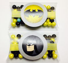 Batman party favors filled with Sixlets