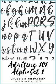 Good Screen Cross Stitch letters Popular Are you loving the calligraphic alphabet featured in the Adulting 101 cross stitch pattern collecti Cross Stitch Letter Patterns, Cross Stitch Numbers, Cross Stitch Letters, Cross Stitch Tree, Cross Stitch Fabric, Beaded Cross Stitch, Cross Stitch Borders, Cross Stitch Baby, Modern Cross Stitch