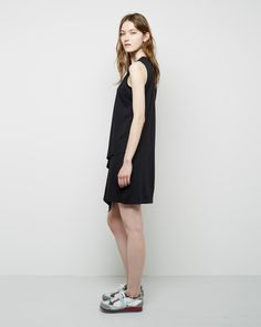 MM6 by Maison Martin Margiela / Sleeveless Drape Dress  MM6 by Maison Martin Margiela / Platform Sneaker #pf14