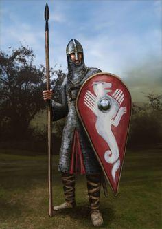 Norman Soldier by RobbieMcSweeney on DeviantArt Medieval World, Medieval Knight, Medieval Armor, Medieval Fantasy, Norman Knight, Armadura Medieval, Anglo Saxon, Knights Templar, Dark Ages