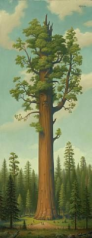 Mark Ryden, General Sherman no. 77 In The Kings Canyon Sequoia National Park near Fresno, Ca. Illustrations, Illustration Art, Modern Art, Contemporary Art, Stencil, Mark Ryden, General Sherman, Wow Art, Pop Surrealism