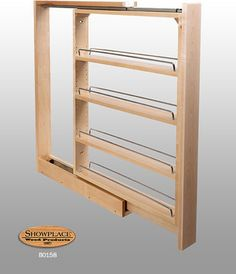 Base Slim Pull-out Rack - Showplace Cabinets - traditional - kitchen cabinets - other metro - Showplace Wood Products
